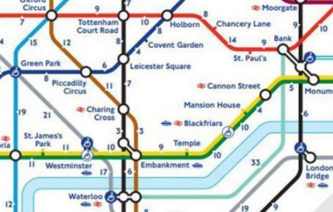 Image of London Underground map which illustrates the use of visual information and how it can help manage information overload
